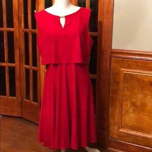 Beautiful Red Alfani Dress size 14